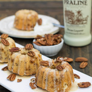 Pecan-Toffee Pound Cakes with Praline Creme Anglaise