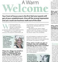 In the Press: Lori advises Hotel Business Magazine on front of house design