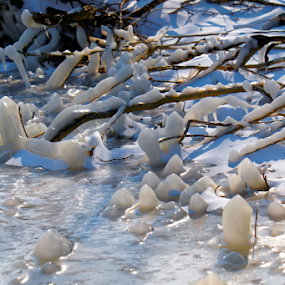 Frozen lake by Dalibor Jud - Nature Up Close Other Natural Objects ( led, ice, croatia, frozen lake, tribaljsko, jezero, hrvatska, tribalj )
