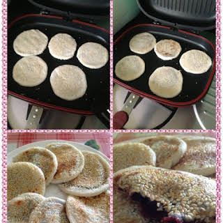 Glutinous Red Bean Pancakes.