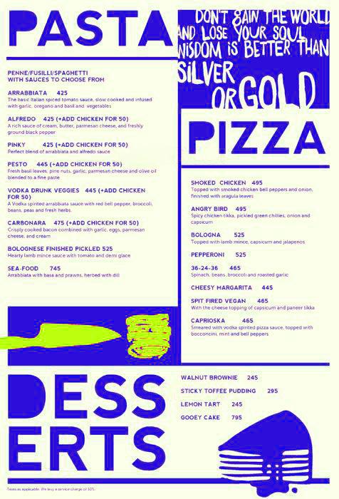 Raasta menu 4