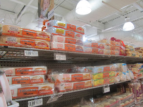 Photo: Somehow I thought there would be more choices, especially for English Muffins.