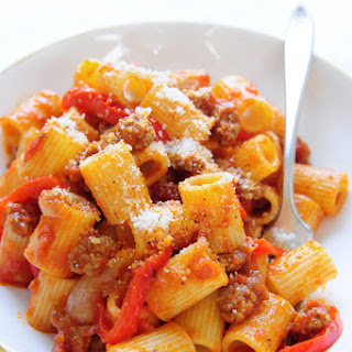 Rigatoni with Peppers & Sausage