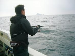 "Photo: ファーストヒットは、初乗船の""ミヤジさん""!"