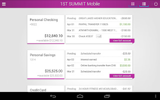Screenshot of 1ST SUMMIT BANK