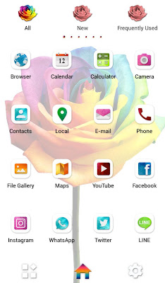 Rainbow Rose +HOME Theme - screenshot