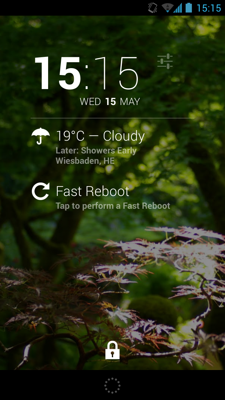 Скриншот Fast Reboot for DashClock