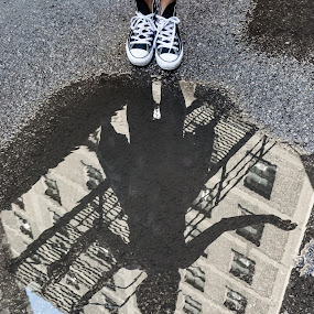 Puddle by Luke Collins - People Street & Candids ( ooc2016, outofchicagoconerence, model, reflection, illinois, midwest, puddle, outofchicago, il, chicago, out of chicago )