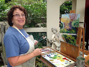 Photo: Ruth Weiss /Painting plein air at the Society of the Four Arts 12-12-13