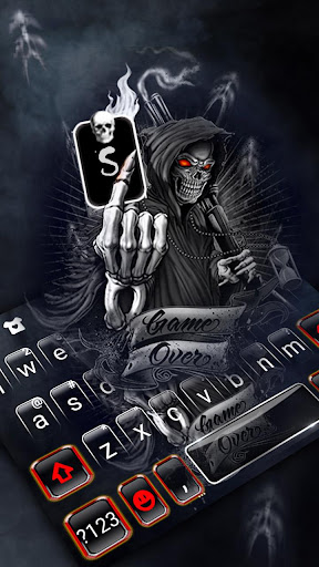 Skull Reaper Gun Keyboard Theme ss2