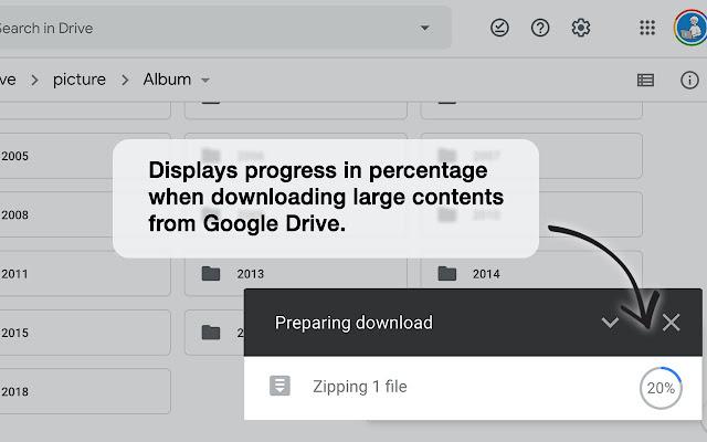 Google Drive Percentage
