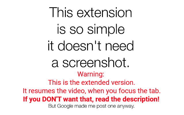 Stop Autoplay for Youtube™ Extended