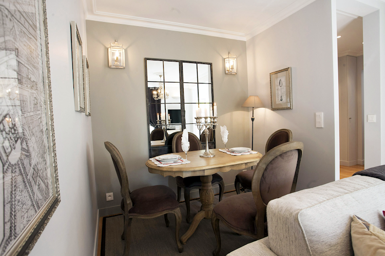 Dining space at Champs Elysee apartment