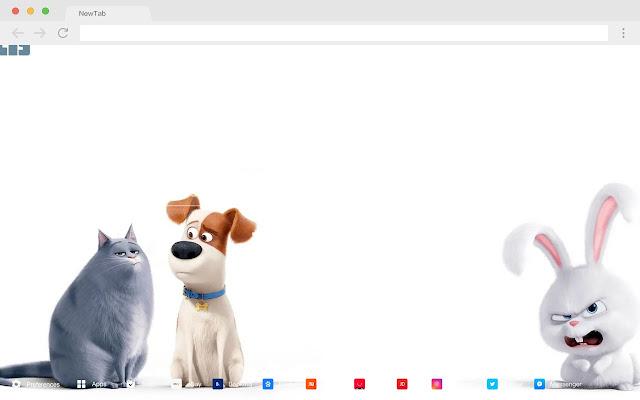 The Secret Life of Pets New Tab HD Pop Theme