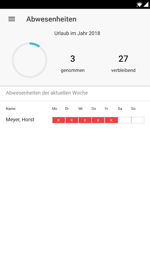 TimeNote Mobile – Screenshot