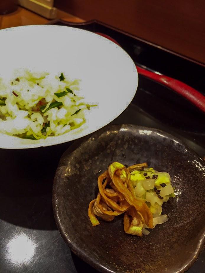大根の皮の漬物、白菜の漬物