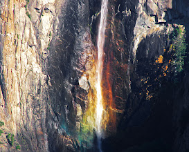 Photo: Rainbow of colors. Late day Bridalveil Fall from Tunnel View. #1733a.