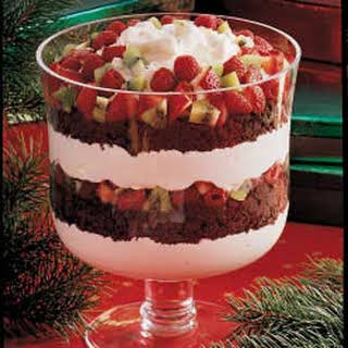 Chocolate and Fruit Trifle.