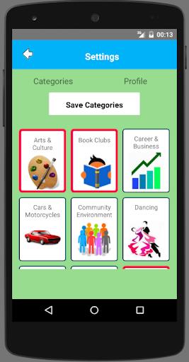 DondeNow Event Calendar Screenshot