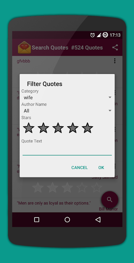 Quote Widget for Android- screenshot