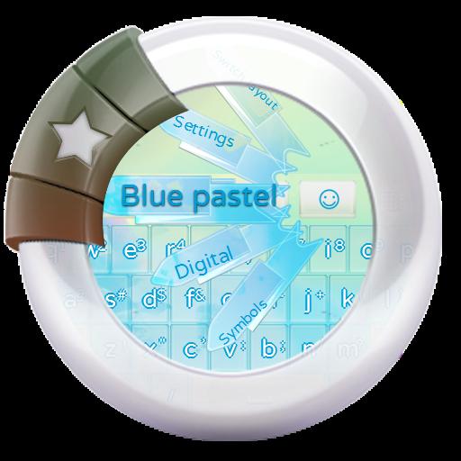 ブルーパステル GO Keyboard 個人化 LOGO-玩APPs