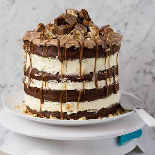 Chocolate Snickers Cake.