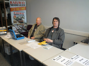 Photo: 002 John Read and John Newton manning the entrance desk shortly before opening time .