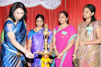 Photo: Lightening of the Lamp by Dr. A.D. Madhavi - Guest of Honor