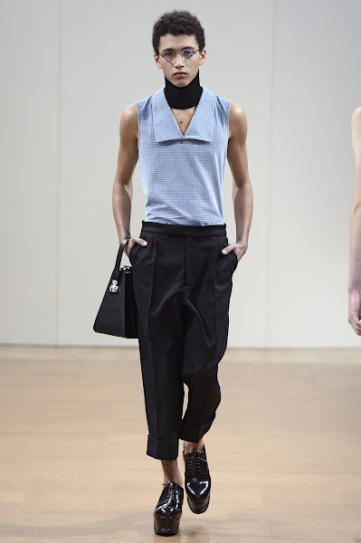 Photo: LOOK SEVEN J.W.ANDERSON AW 2014 MENS SHOW http://www.j-w-anderson.com/1/fall-2014/collection.html
