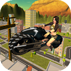 Flying Moto Bike City Ride 3D icon