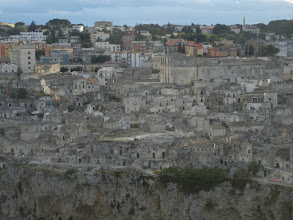 Photo: The town of Matera from the cliff opposite it