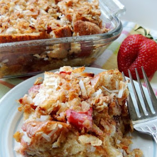 Strawberry-Coconut Crunch Layered French Toast