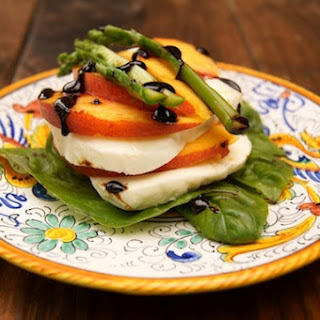 Peach Caprese with Balsamic Glaze