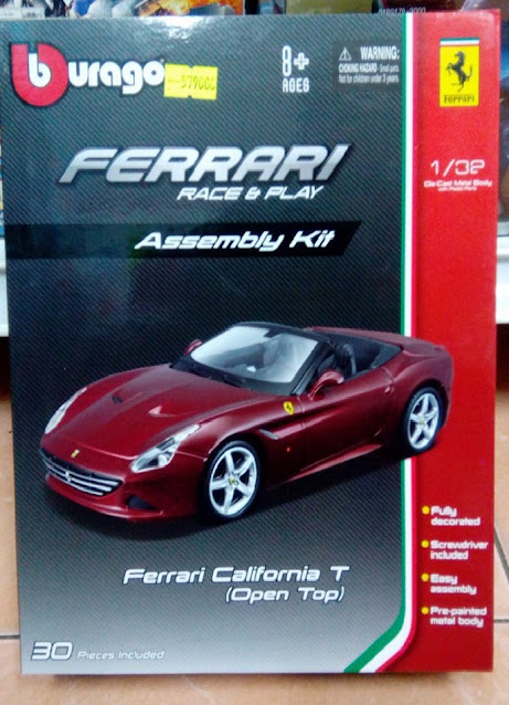 Bộ lắp ghép xe California T mui trần (Bburago Race & Play Assembly Kit) - Bburago 18-45211
