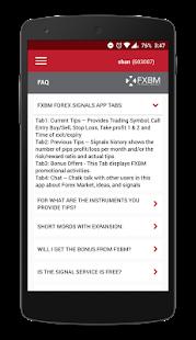 Free Forex Signals - FXBM screenshot