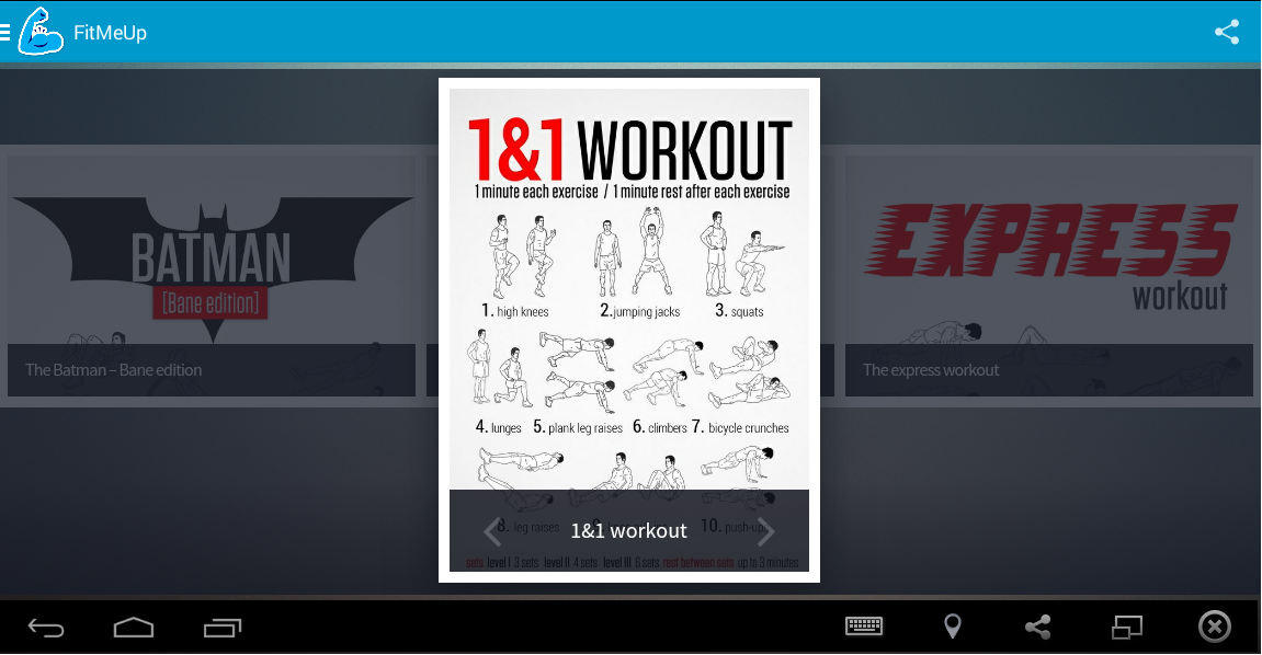 FitMeUp your strength system- screenshot