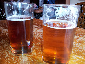 Photo: Enjoying the interesting range of fresh Adnams ales in Southwold is a wonderful experience.