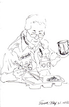 Photo: 用餐2012.05.31鋼筆 經常有朋友驚訝的問:「你們上班吃飯不是不用錢嗎?」 嘿!不用錢的牢飯是收容人專用的,我們監所管理員吃的職餐是要自己花錢買的,唯一相同的是:都是收容人煮的!