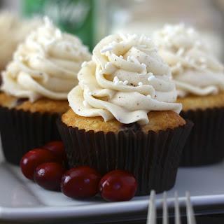 Cranberry Eggnog Cupcakes.