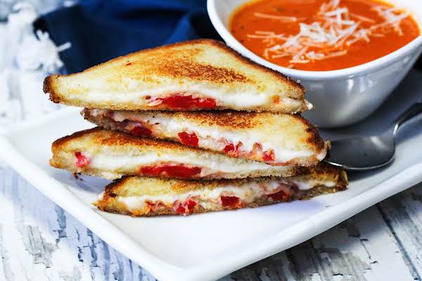Mini Italian Grilled Cheese Sandwiches.