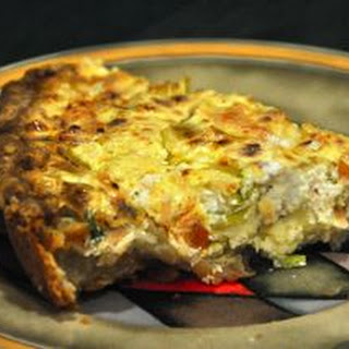 Smoked Salmon Quiche with Goat Cheese and Leeks.