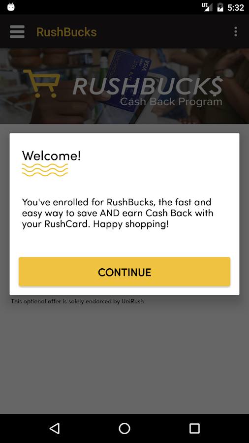 RushCard- screenshot