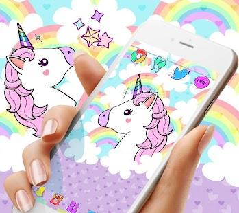 Rainbow Cloud Unicorn Theme - náhled