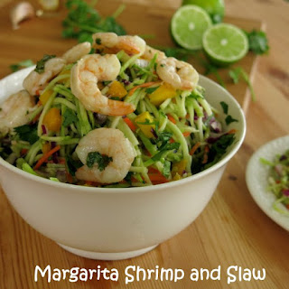 Margarita Shrimp and Slaw with Mangoes and Red Onion