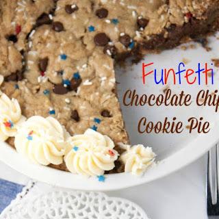 Funfetti Chocolate Chip Cookie Pie