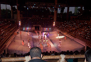 Photo: Ball game re-enactment at Xcaret