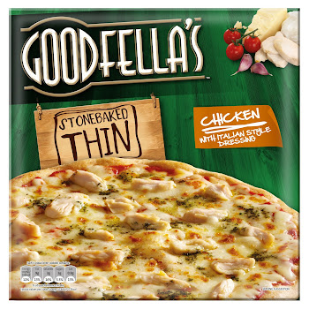 Goodfella's Stonebaked Thin Piza - Chicken with Italian Style Dressing, 365g