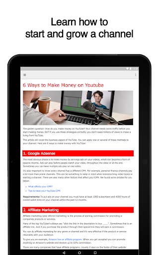 Guide for YouTube Channels 2.7 screenshots 6
