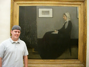Photo: Curt next to Whistler's Mother, in Paris at the Musée d'Orsay