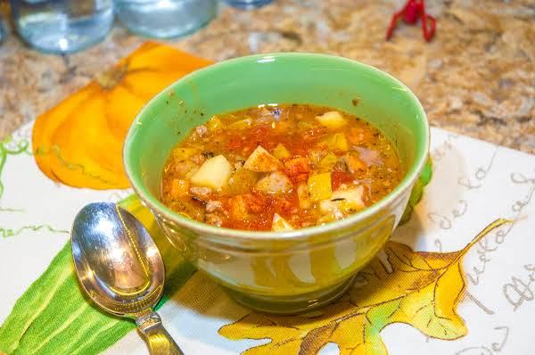 Autumn Essentials: Hearty Beef, Bacon, Veggie Soup Recipe